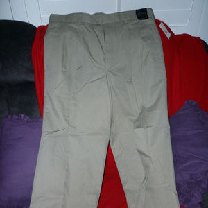 Nordstrom Men pants 36W/32L taupe pleated cotton